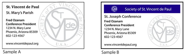 St vincent de paul clothing and uniforms click here for the svdp business card template to createdesign your own please provide all information to be included on the business card colourmoves
