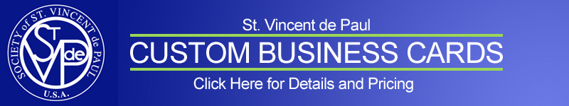 St Vincet De Paul Custom Business Cards
